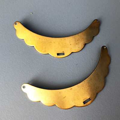 1 x Vintage Old Stock Solid Brass Gold Necklace Connector Bib