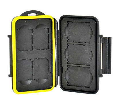 JJC Water-resistant Holder Storage Memory Case Protector For 3XQD + 4SD Cards