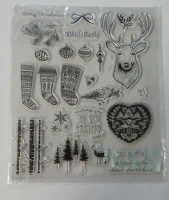Clear craft stamp- christmas themed stamp set
