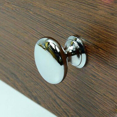 20 x Kitchen Drawer Knobs Cabinet handles Chrome cupboard furniture pull 30mm
