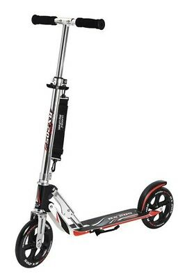 "City Scooter Big Wheel Hudora Alu 8""  205 RX schwarz/silber/rot 205mm RX-design"