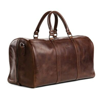 Offermann Duffle Bag Solid Chestnut Brown