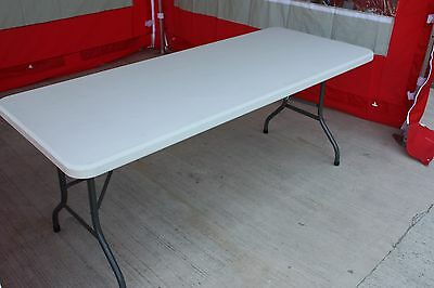6ft Blow Moulded Trestle Table Market Stall Super Strong Folding Legs