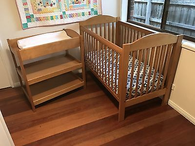 Boori Wooden Cot and Change Table
