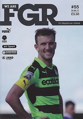 2016/17 - FOREST GREEN ROVERS v MAIDSTONE UNITED (22nd April 2017)