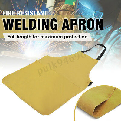 Leather Welders Aprons Heavy Duty Welding Heat Insulation Protect Blacksmith AU