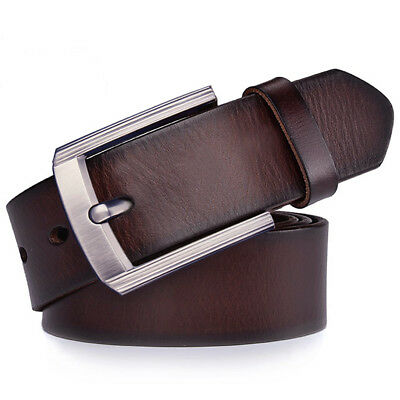 2018 Fashion Luxury Top quality Mens Belt 100% Genuine Leather belt size S-9XL