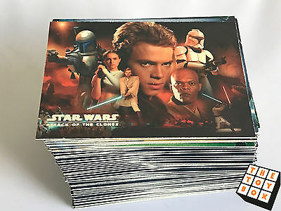 Topps 2002 Star Wars Attack of The Clones Trading Cards - Complete Set of 100