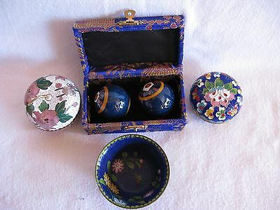 Selection of Cloisonne Pin Dishes & Chimes