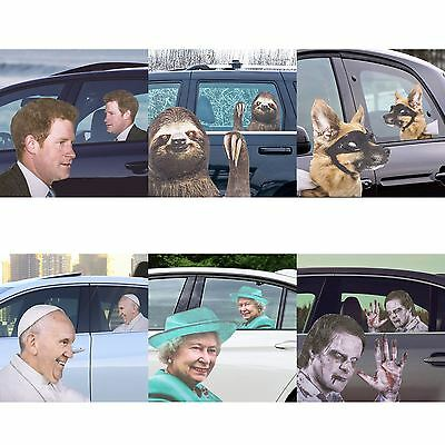 Ride With Famous Celebrity Passenger Car Window Sticker For Right Hand Drive
