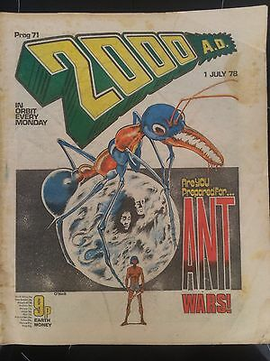 2000AD Comic Program 71 From 1978 Banned Issue