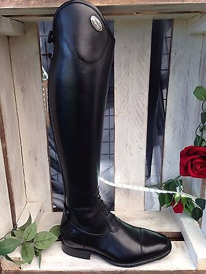 De Niro Salento Long Leather Riding Boots Black LACES