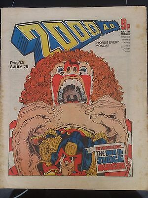 2000AD Comic Program 72 From 1978 Banned Issue