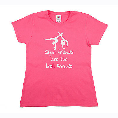 Girls / Ladies Gymnastics Top with white or black writing. Best Friends gift