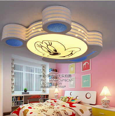Led Ceiling Light Cartoon Mickey Mouse Children's Room Chandeliers Bedroom