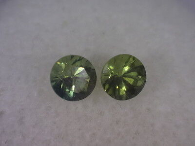Natural Australian Sapphires Pair of 2 x 4mm round, total of .68 cts. ID #170