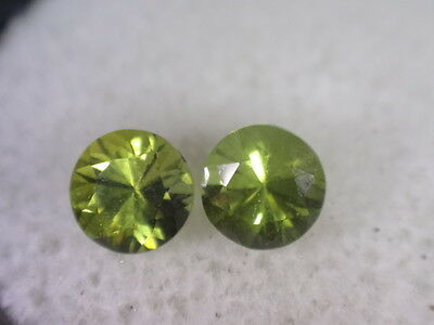 Natural Australian Sapphires Pair of 2 x 4mm round, total of .7 cts. ID #172
