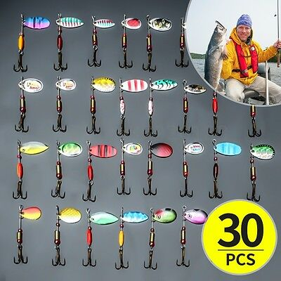 30pz Esche Artificiali Pesca Spinning Mare Fiume Fishing Lures CrankBaits Baits