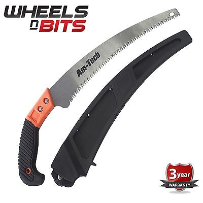 New Heavy Duty 3 point Cutting Pruning Saw For Tree Branches hedges with holder