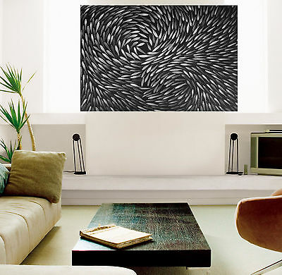 "24"" Fish black white Framed Aboriginal art print painting by Jane authentic COA"
