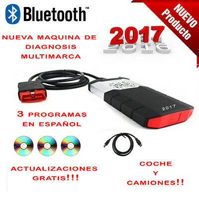 Maquina Diagnosis Bluetooth Multimarca 2017 + 3 Soft  / Coche Y Camion / Pro