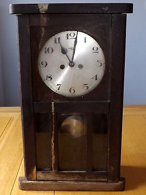 Antique/Vintage 1930's German Wall Clock for Spares or Repair