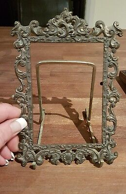 vintage brass photo frame Made in Italy