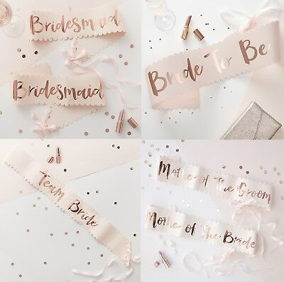 Team Bride / Bridesmaid Sashes Bride To Be Sash Hen Party Accessories Favours