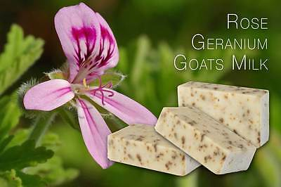 Soap 4x Rose Geranium Goats Milk Australian made Yarra Valley Natural Products