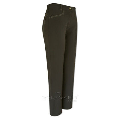 Green Lamb Windproof Trousers with Fleece-Lining in Black