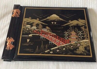 antique vintage photo album from Japan with mother of pearl inlay ~ UNUSED.
