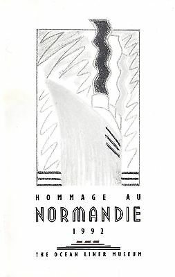 1992 NORMANDIE Exhibit Guide from Ocean Liner Museum - NAUTIQUES sHiPs WORLDWIDE