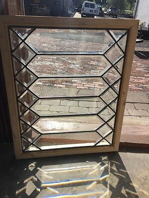 Sg 1421 Antique All Beveled Glass Rainbow Window 20 5W By 20.5 H