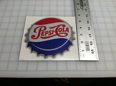 Coca Cola Pepsi Cola Decal Soda Cap Sticker 6""