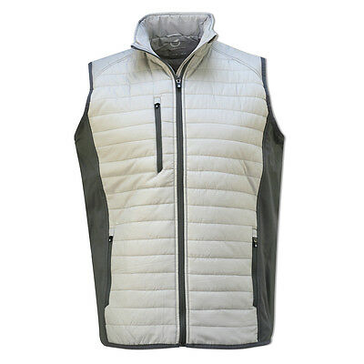 Sunderland Men's Padded Gilet with Wind Resistant Finish in Grey/Silver