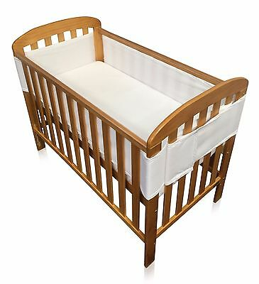 Babycurls BREATHE EASY Breathable Airflow Mesh Cot Liner (4 Sided, WHITE)