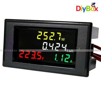 AC 200-450V Digital LCD Voltmeter Ammeter electric energy Power Panel Meter 100A