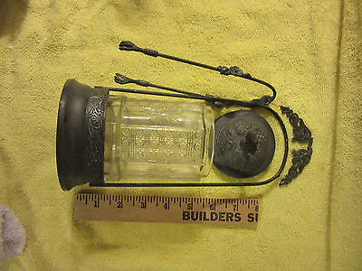 Antique Victorian American Silver & Beveled Crystal Pickle Jar Claw-Tongs c1880