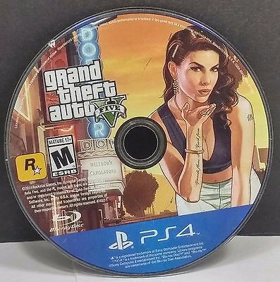 Sony Playstation 4 PS4 Grand Theft Auto V Five GTA 5 Disc Only