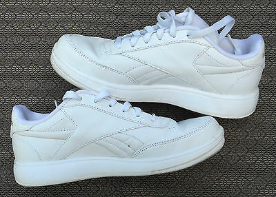 White Reebok Athletic Sports Tennis Womens Lace Shoes, Size 8