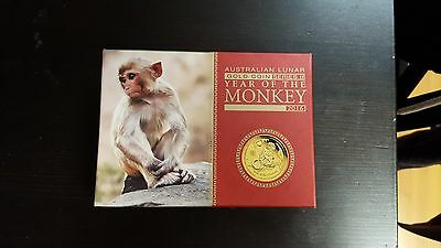 2016 Australia Lunar Year of the Monkey 1/10 oz Gold Proof $15 Coin, AWESOME!