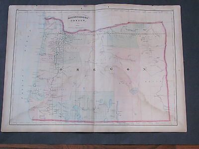 1873 Asher and Adams Oregon Map