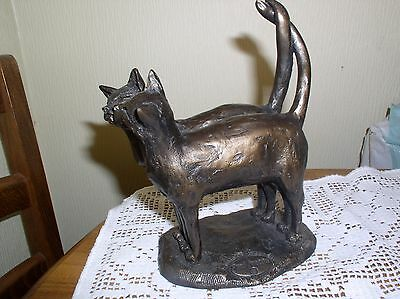 "Frith ""Two's Company"" Bronze Cat Sculpture by Paul Jenkins"