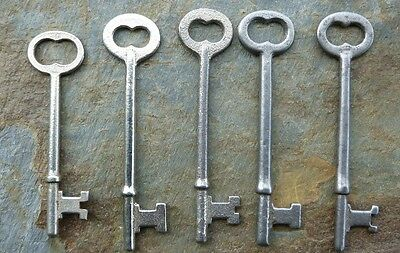Five Vintage  Mortise Lock Skeleton Keys  Antique & Vintage Door Keys