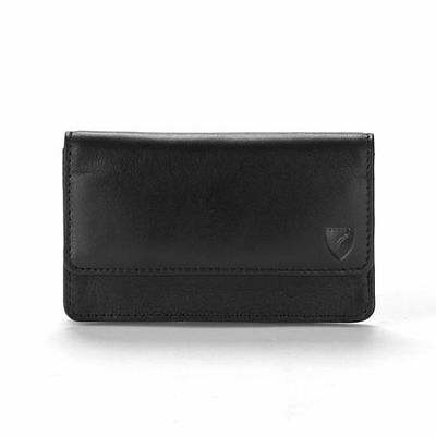 Aspinal Of London Business and Credit Card Case. Smooth Black. AND Embossed.