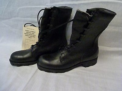 Mens Military Leather Duty Combat Boots Sz 4 NR Speed Lace New 05/85