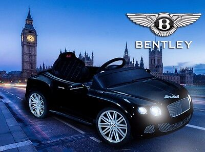 Bentley Continental GT Kids Battery Electric Ride on Car 12v Sports Car-Black