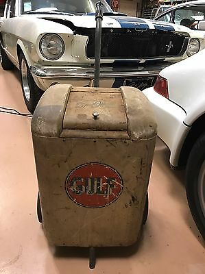 Gulf Motor Oil Gas Station Vintage Battery Charger