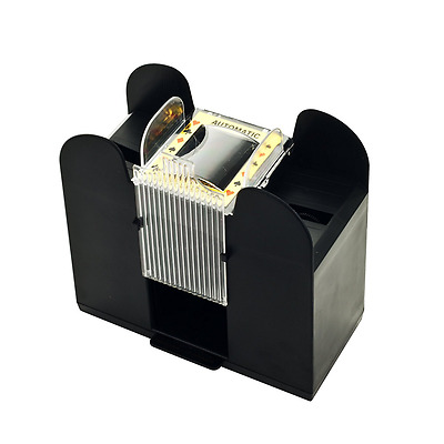 Casino 6-Deck Automatic Card Shuffler Shuffling Machine Playing Cards Gift NEW