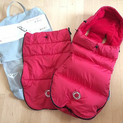Bugaboo High Performance Footmuff Red Winter / Fall 2 covers - Great condition